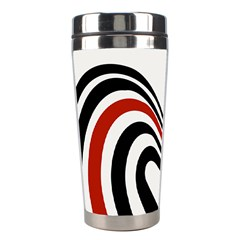 Curving, White Background Stainless Steel Travel Tumblers