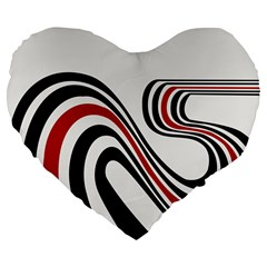 Curving, White Background Large 19  Premium Flano Heart Shape Cushions