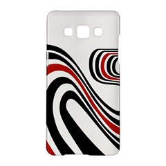 Curving, White Background Samsung Galaxy A5 Hardshell Case
