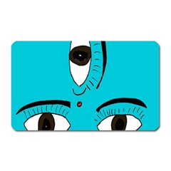 Eyes Three Blue Magnet (Rectangular)