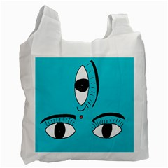 Eyes Three Blue Recycle Bag (Two Side)