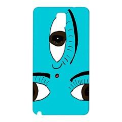 Eyes Three Blue Samsung Galaxy Note 3 N9005 Hardshell Back Case