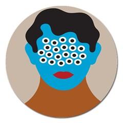 Face Eye Human Magnet 5  (Round)