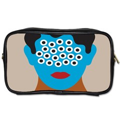 Face Eye Human Toiletries Bags 2-Side