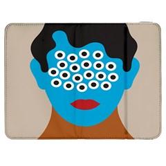 Face Eye Human Samsung Galaxy Tab 7  P1000 Flip Case