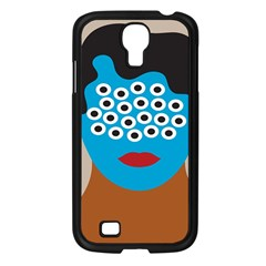 Face Eye Human Samsung Galaxy S4 I9500/ I9505 Case (Black)