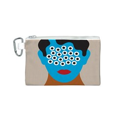 Face Eye Human Canvas Cosmetic Bag (S)