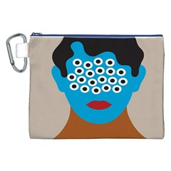 Face Eye Human Canvas Cosmetic Bag (XXL)