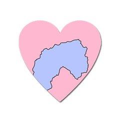 Girls Pink Heart Magnet