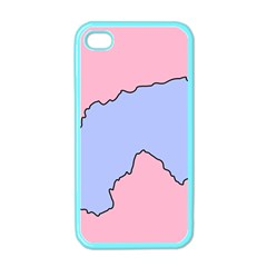 Girls Pink Apple iPhone 4 Case (Color)