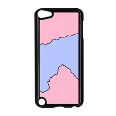 Girls Pink Apple iPod Touch 5 Case (Black)