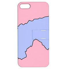 Girls Pink Apple iPhone 5 Hardshell Case with Stand