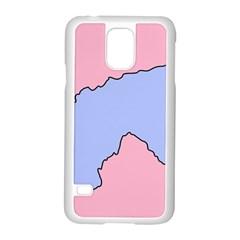 Girls Pink Samsung Galaxy S5 Case (White)