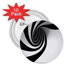 Hole Black White 2.25  Buttons (10 pack)