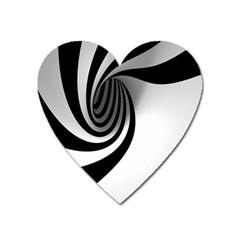 Hole Black White Heart Magnet