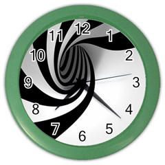 Hole Black White Color Wall Clocks