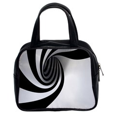 Hole Black White Classic Handbags (2 Sides)
