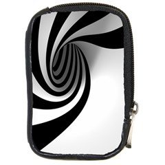 Hole Black White Compact Camera Cases