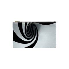 Hole Black White Cosmetic Bag (Small)