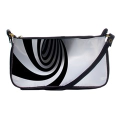 Hole Black White Shoulder Clutch Bags