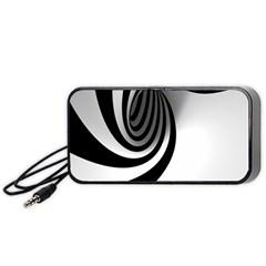 Hole Black White Portable Speaker (Black)