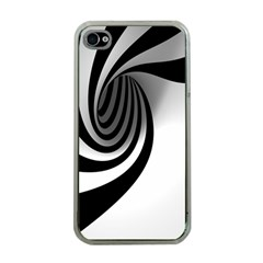 Hole Black White Apple iPhone 4 Case (Clear)