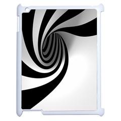 Hole Black White Apple iPad 2 Case (White)