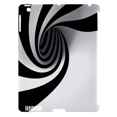 Hole Black White Apple iPad 3/4 Hardshell Case (Compatible with Smart Cover)