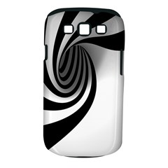 Hole Black White Samsung Galaxy S III Classic Hardshell Case (PC+Silicone)