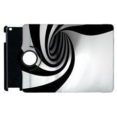 Hole Black White Apple iPad 3/4 Flip 360 Case
