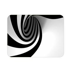 Hole Black White Double Sided Flano Blanket (Mini)
