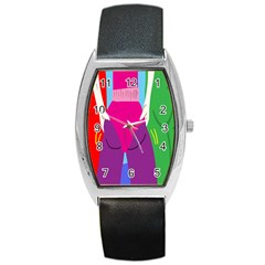 Initial Thumbnails Barrel Style Metal Watch
