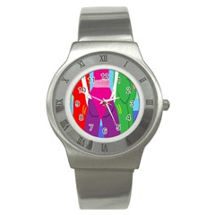 Initial Thumbnails Stainless Steel Watch