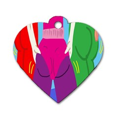 Initial Thumbnails Dog Tag Heart (Two Sides)