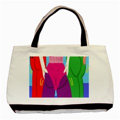 Initial Thumbnails Basic Tote Bag (Two Sides)