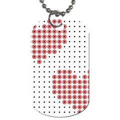 Heart Love Valentine Day Pink Dog Tag (One Side)