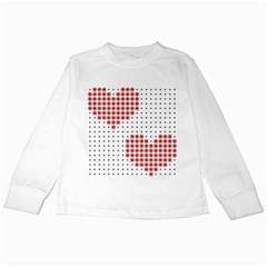 Heart Love Valentine Day Pink Kids Long Sleeve T-Shirts