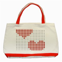 Heart Love Valentine Day Pink Classic Tote Bag (Red)