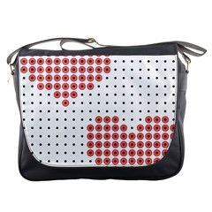 Heart Love Valentine Day Pink Messenger Bags