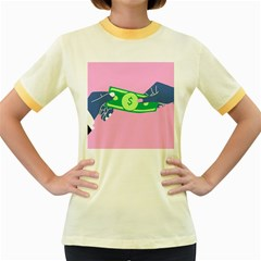 Money Women s Fitted Ringer T-Shirts