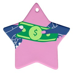 Money Star Ornament (Two Sides)