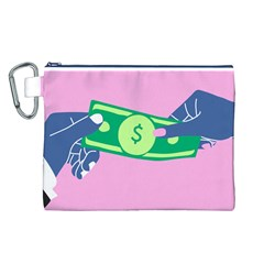 Money Canvas Cosmetic Bag (L)