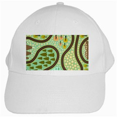 Hilly Roads White Cap