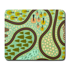 Hilly Roads Large Mousepads