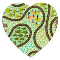 Hilly Roads Jigsaw Puzzle (Heart)