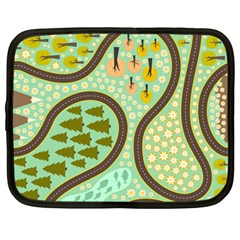 Hilly Roads Netbook Case (Large)