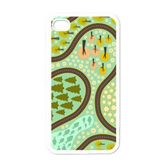 Hilly Roads Apple iPhone 4 Case (White)