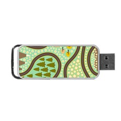 Hilly Roads Portable USB Flash (One Side)