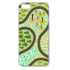 Hilly Roads Apple Seamless iPhone 5 Case (Clear)