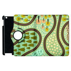 Hilly Roads Apple iPad 3/4 Flip 360 Case
